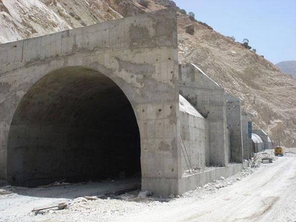 تونل جاده سد و نيروگاه کارون 4